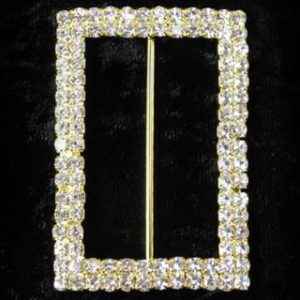 Rectangle Rhinestone Buckle