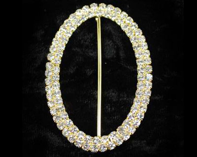 Oval Rhinestone Buckle