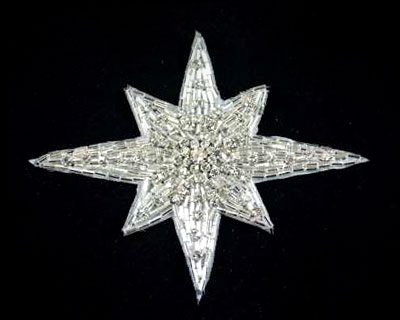 Sunburst Beads and Rhinestone Applique