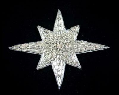 Sunburst Beads and Rhinestone Applique