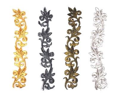 Leaf Scroll Applique (Metallics)