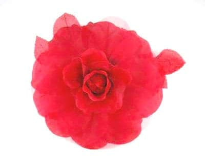 Large Silk Organdy Rose