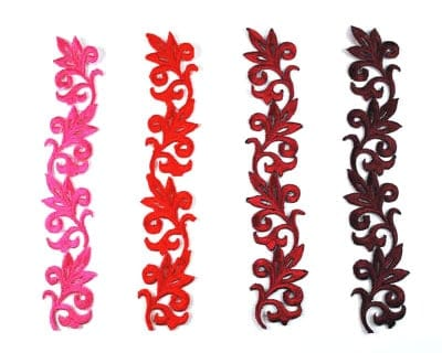 Leaf Scroll Applique (Red Colors)