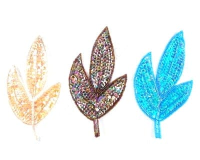 Medium Sequin Leaf (Iridescent Colors)