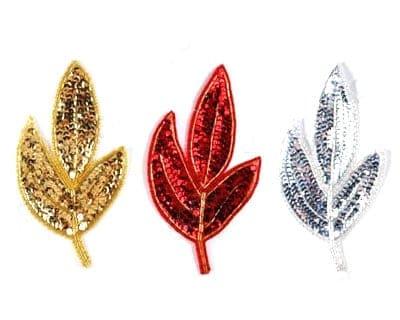 Medium Sequin Leaf (Metallic Colors)