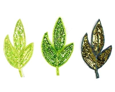 Medium Sequin Leaf (Green Colors)