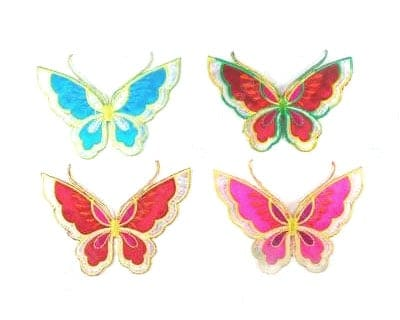 Multicolor Embroidered Butterfly