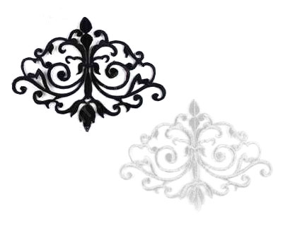 Small Embroidered Scroll (White or Black)