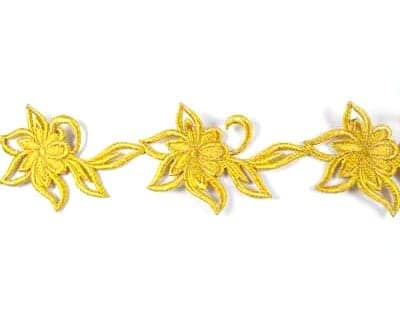 Large Embroidered Floral Trim