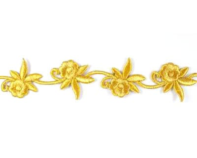 Small Embroidered Floral Trim
