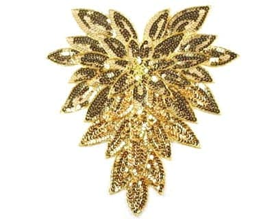 Large Sequin Leaf Chestpiece