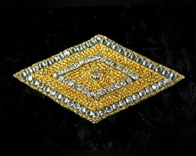 Diamond Beaded Rhinestone Applique