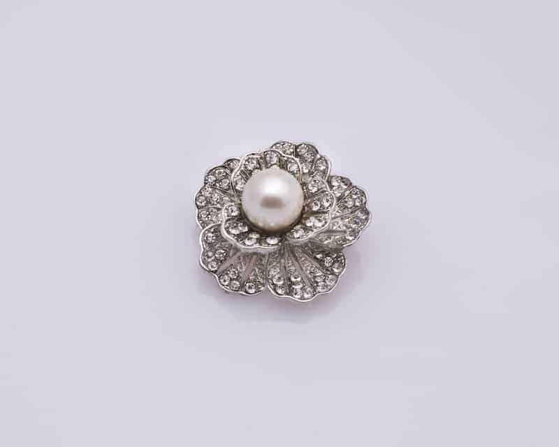 Petite Pearl Flower Brooch