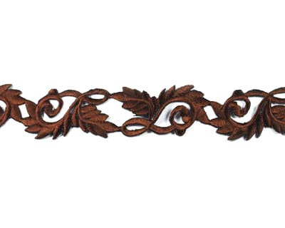 Embroidered Scroll Trim