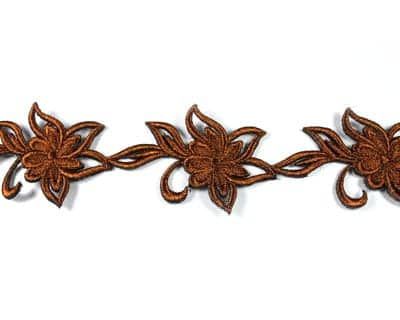 Metallic Embroidered Floral Trim