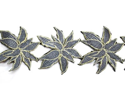 Embroidered Leaf Trim