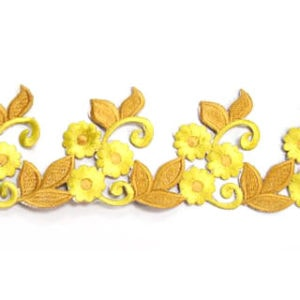 Embroidered Floral Leaf Trim