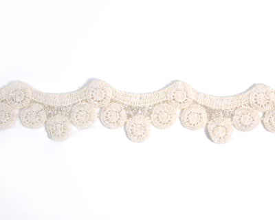 Beige Cotton Lace Trim