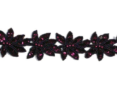 Beaded Sequin Leaf Trim