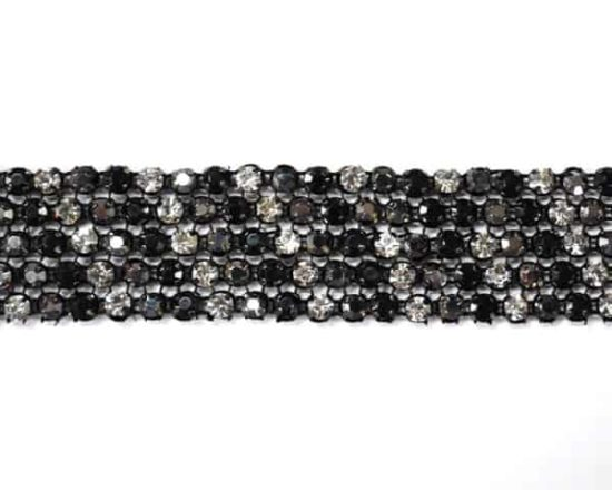 Dark Multi Rhinestone Band