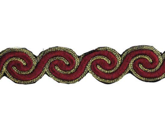 Embroidered Iron-On Swirly Trim