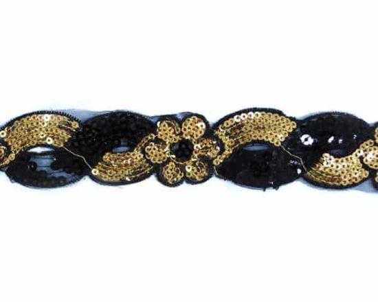 Sequin Flower Squirl Trim