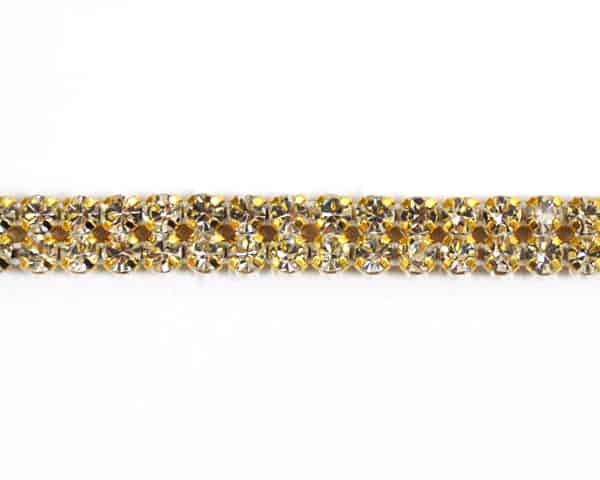Gold Rhinestone Banding (2 Line)