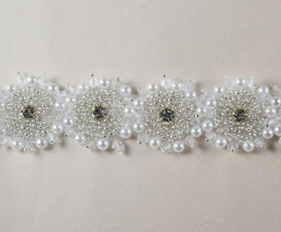 Henrietta Beaded Rhinestone Circle Trim