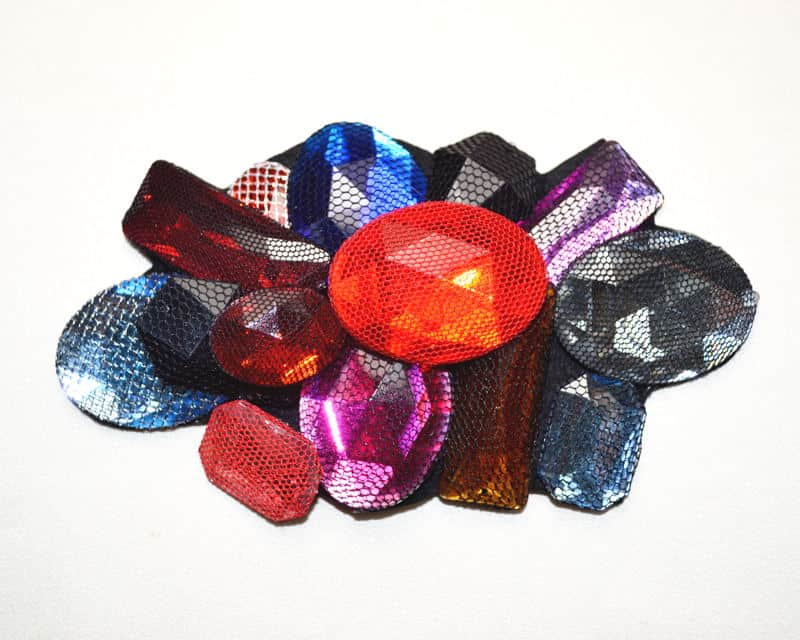 Multi-Color Beaded Cluster Patch