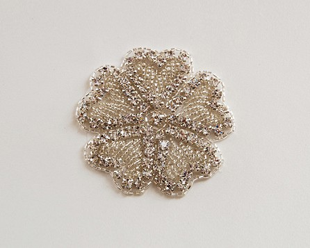Hearts Flower Rhinestone Applique
