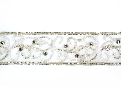 Beaded Band with Rhinestone Accents