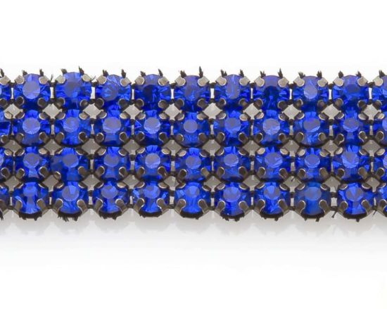 Royal Blue Rhinestone Band (4 Row)