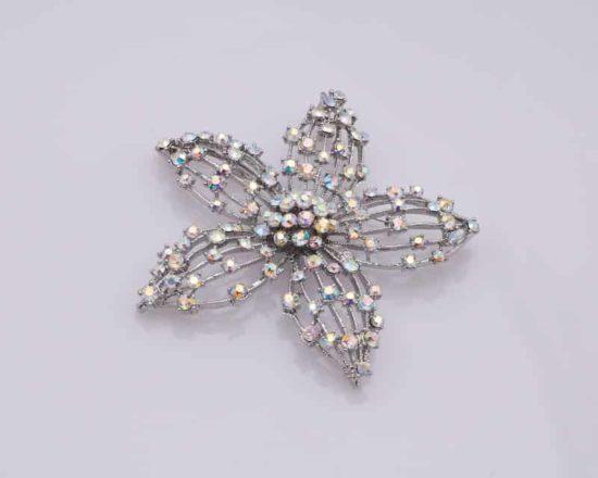 AB Rhinestone Starfish Brooch