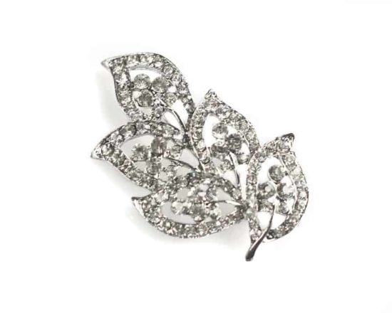 Five Leaves Leaf Brooch