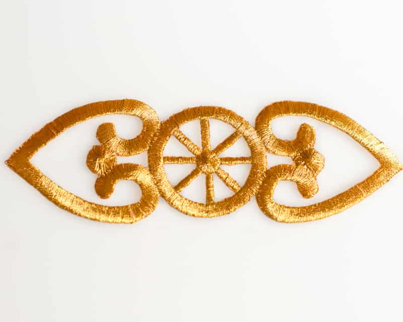 Embroidered Gold Emblem