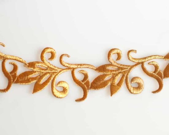 Embroidered Leaf Trim (Iron-On)