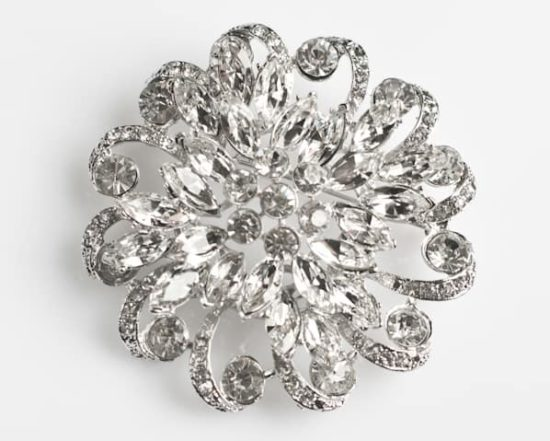 Ultra Large Marquise Rhinestone Brooch