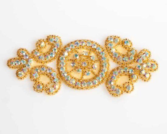 Gold AB Milly Rhinestone Applique