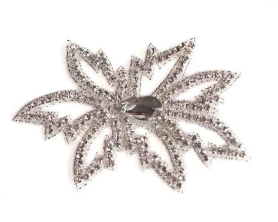 Leaves Rhinestone Crystal Applique