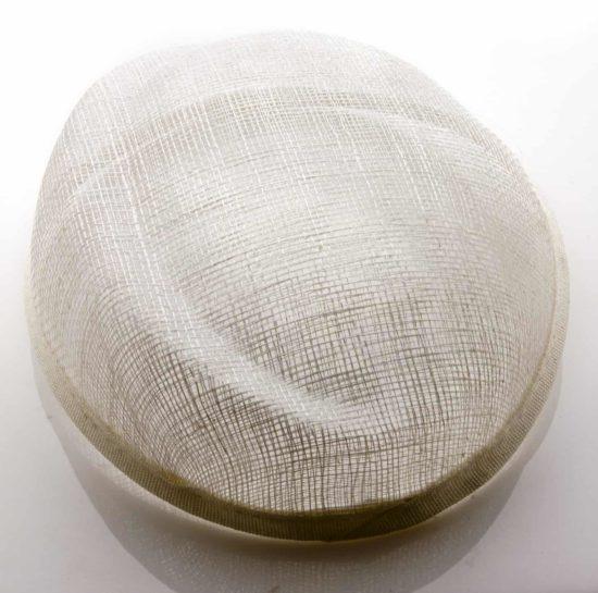 Sinamay Asymmetrical Pillbox Hat Base