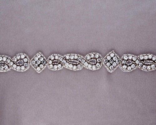 Regalia Rhinestone Beaded Trim