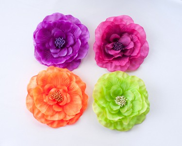 Camellia Brooch Pin (Brights)