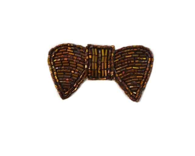 Petite Beaded Bow Applique