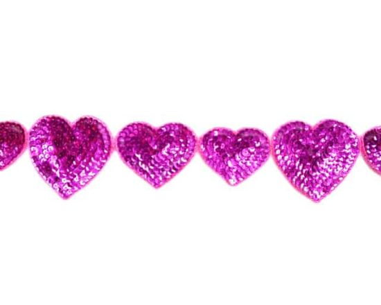 Sequin Hearts Trim