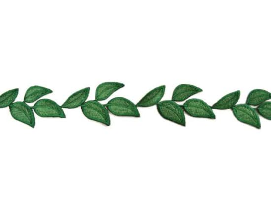 Simple Leaf Embroidered Trim
