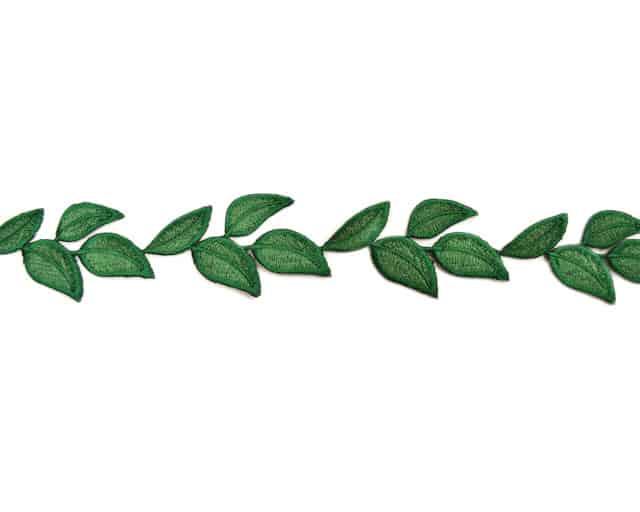 Simple Leaf Embroidered Trim