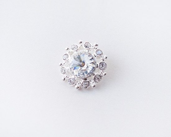 25mm Round Crystal Button