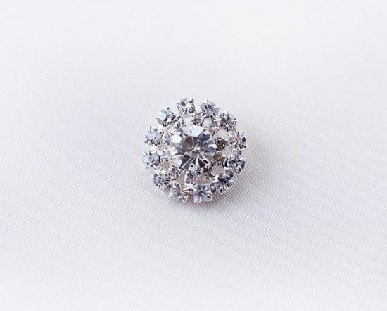24mm Round Crystal Button