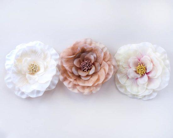 Camellia Brooch Pin (Neutrals)