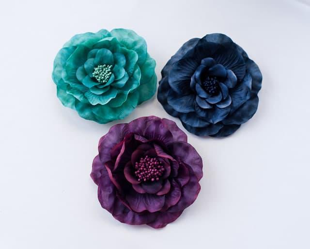Camellia Brooch Pin (Darks)